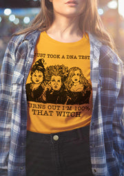 Halloween Hocus Pocus That  Witch  T-Shirt Tee - Yellow