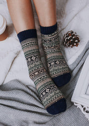 Vintage Geometric Casual Warm Socks
