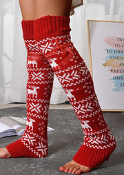 Reindeer Over Knee Knitted Leg Warmers Socks