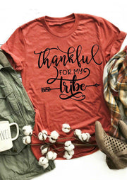 Thankful For My Tribe Long Sleeve Sweatshirt - Brick Red