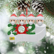 Christmas Tree Hanging Ornament 2020 Cute Survivor Family Pendant