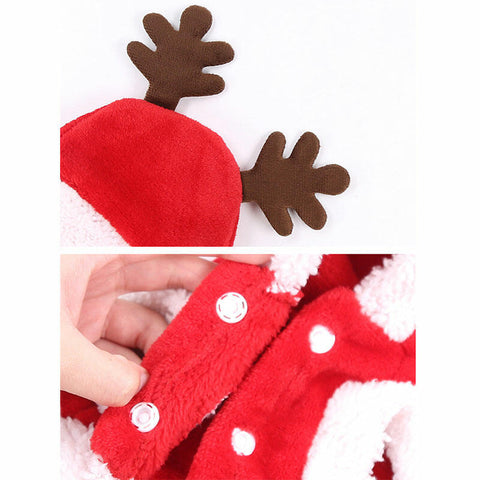 Christmas Pet Reindeer Hooded Clothes