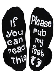 If You Can Read This Please Rub My Feet Socks - Black