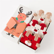 3 Pairs Christmas Santa Reindeer Cartoon Thickened Warm Socks