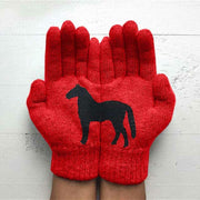 Winter Warm Horse Knitted Gloves