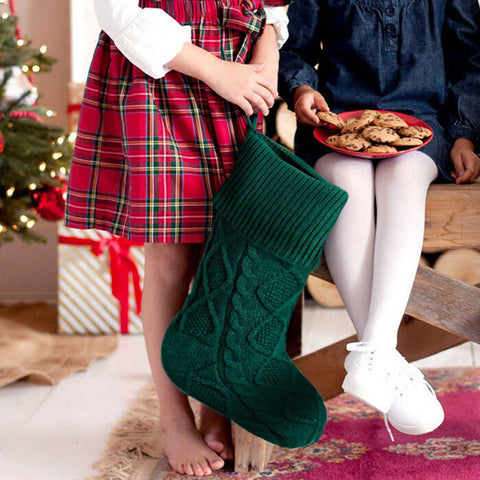 Christmas Children Gift Candy Bag Knitted Sock