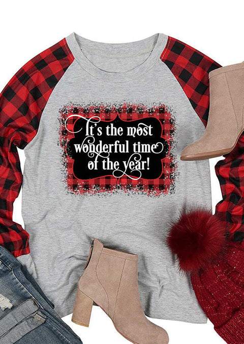 Christmas It's The Most Wonderful Time Of The Year T-Shirt Tee - Red