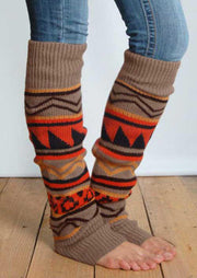 Winter Geometric Thigh-High Leg Warmers Socks