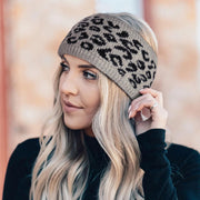 Leopard Plush Knitted Casual Wide Headband