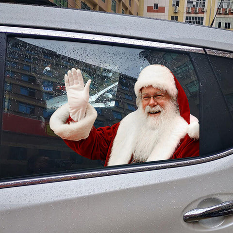 Christmas Decoration Hand Waving Santa Claus Car Sticker Decal