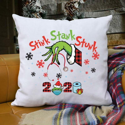 Christmas 2020 Stink Stank Stunk Grinch Hand Pillowcase without Pillow