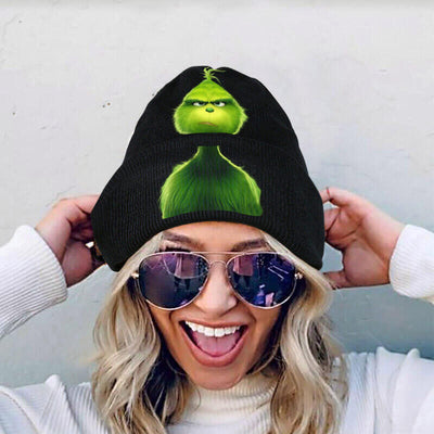 Christmas Grinch Warm Knitted Hat