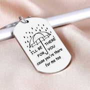 Valentine I'll Be There For You Keychain - Silver