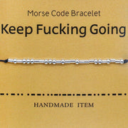 Fashion Beading Morse Code Adjustable Rope Bracelet