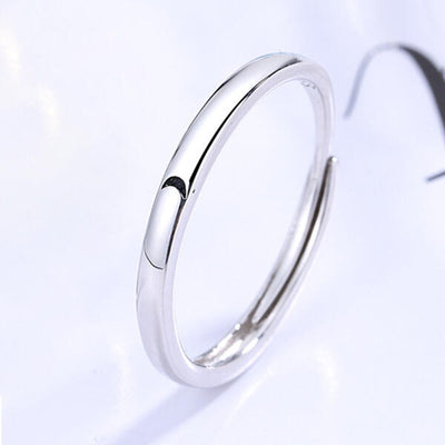 Valentine Sun And Moon Adjustable Open Mouth Couple Ring