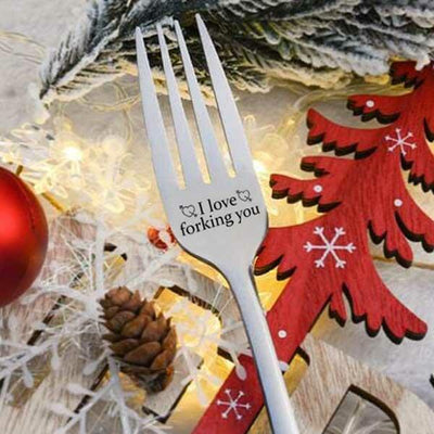 Valentine Fork Kitchen Tableware I Love Forking You