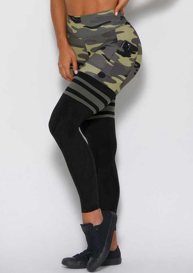 Camouflage Pocket Yoga Fitness Activewear Leggings