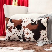 Cow Warm Plush Corduroy Pillowcase without Pillow - Coffee