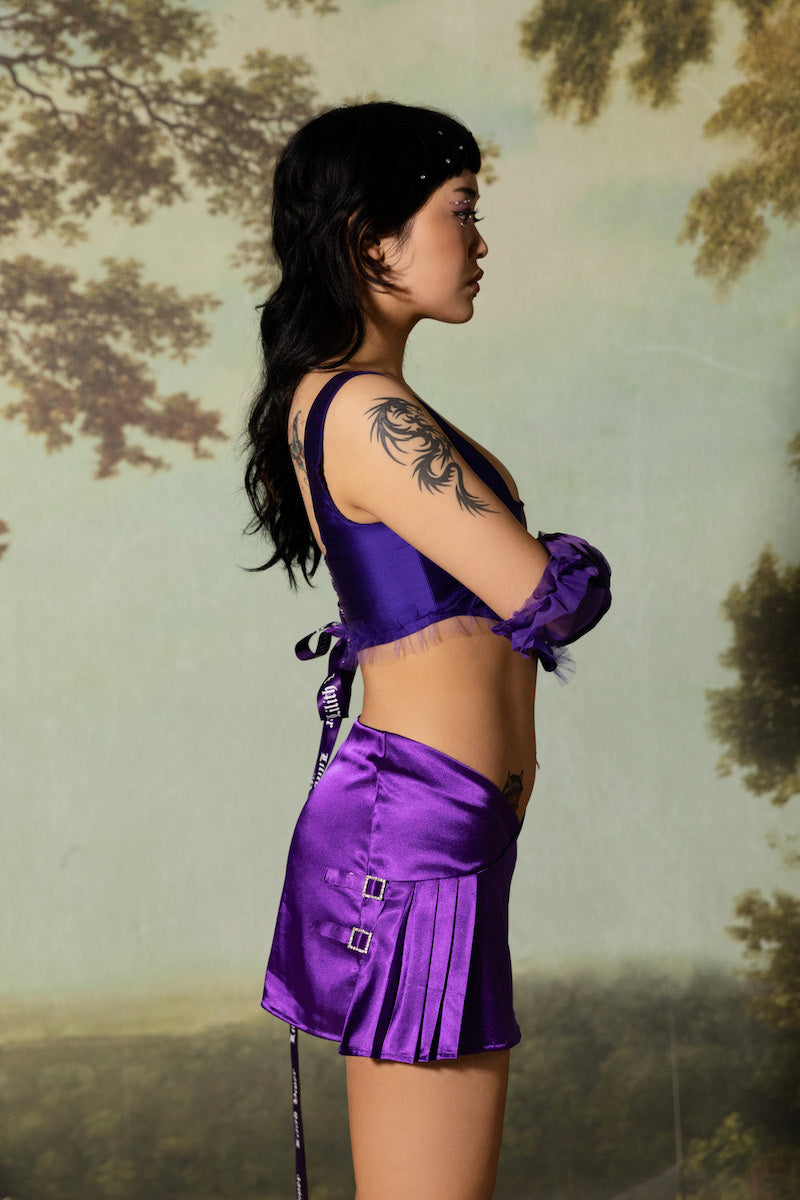Lilith Wrap Skirt - Purple