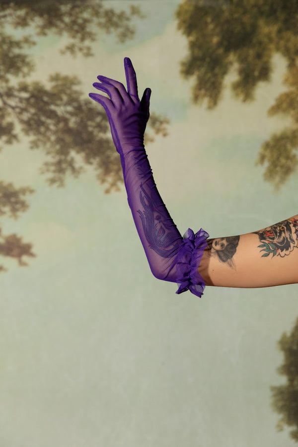 Vanity Gloves - Purple