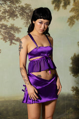 Lilith Frill Bustier - Purple