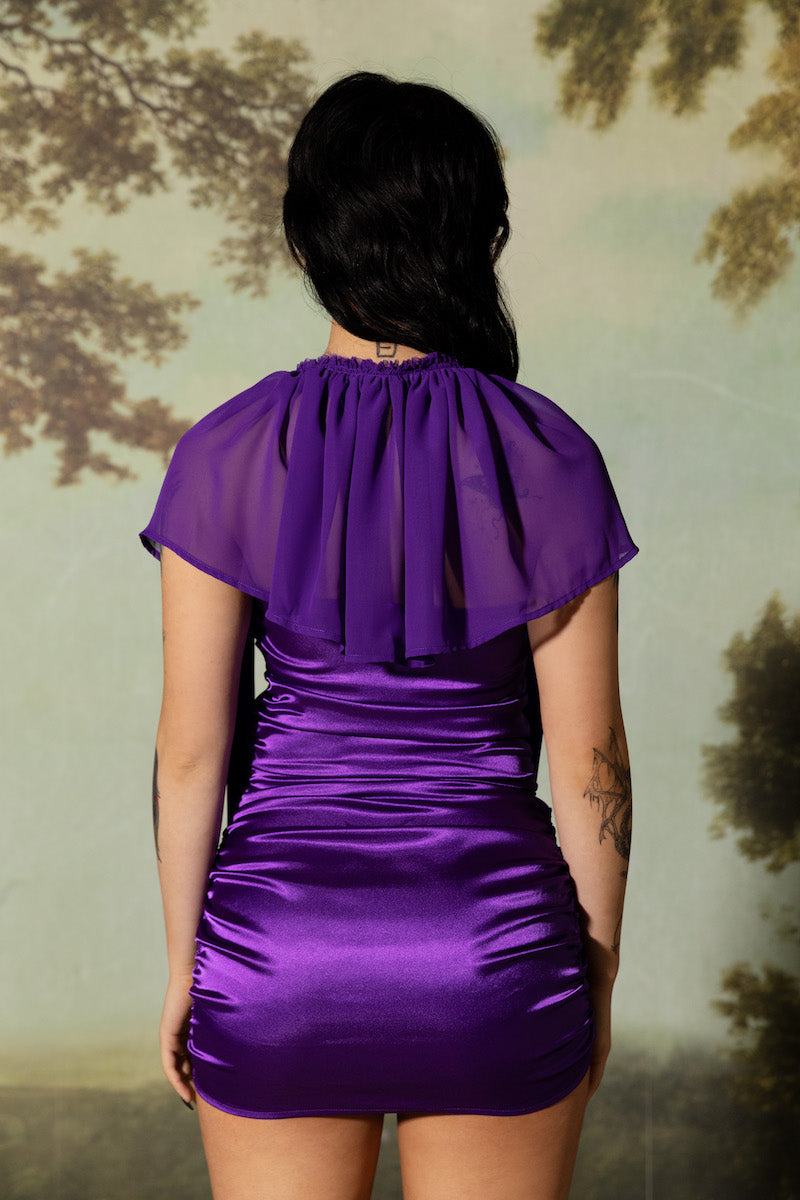 Envy Ruched Dress - Purple