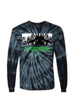 Gidra Black Tie Dye Graphic Long Sleeve T-Shirt