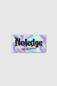 NOLEDGE x UPRISERS Holographic Sticker