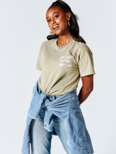 Asia Jackson MORENX x UPRISERS Unisex Tan Embroidered T-Shirt