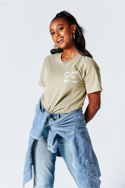 Asia Jackson | You Can't Tell Me Who I Am Embroidery Tee