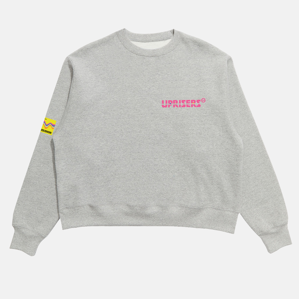 The Future Is Now II Cropped Crewneck Sweater