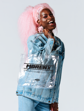 Asia Jackson MORENX x UPRISERS Clear Tote Bag