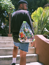 Mark Redito Neutropical Clear Drawstring Backpack