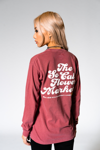 SCFM x UPRISERS Unisex Red Long Sleeve T-Shirt