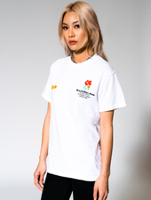 SCFM x UPRISERS Unisex White Graphic T-Shirt