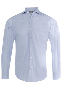 Blue Fine Striped Formal Shirt