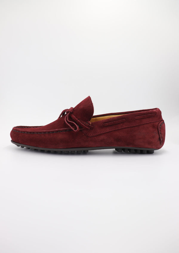 Bordeaux Suede Laced Driving Shoes