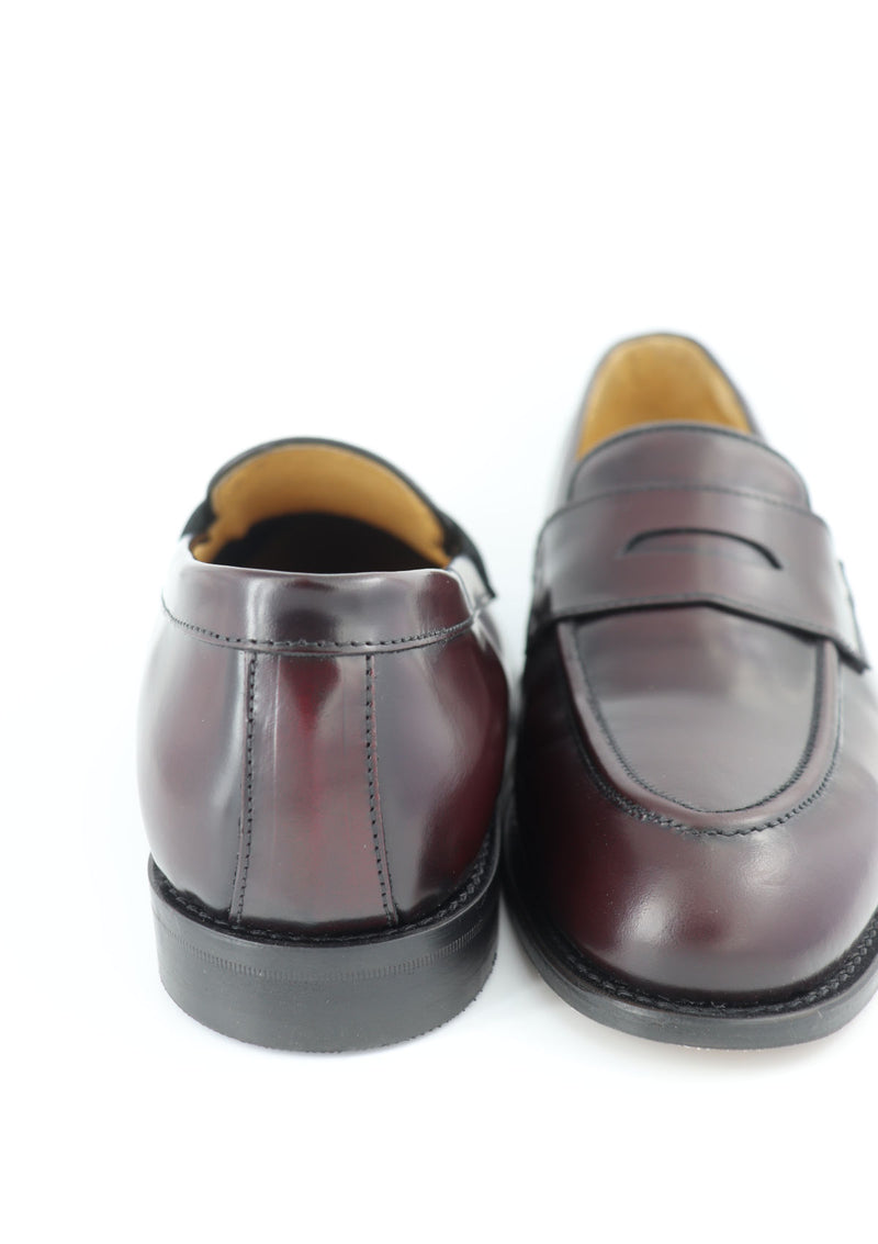 The Penny Loafer - Burgundy Leather