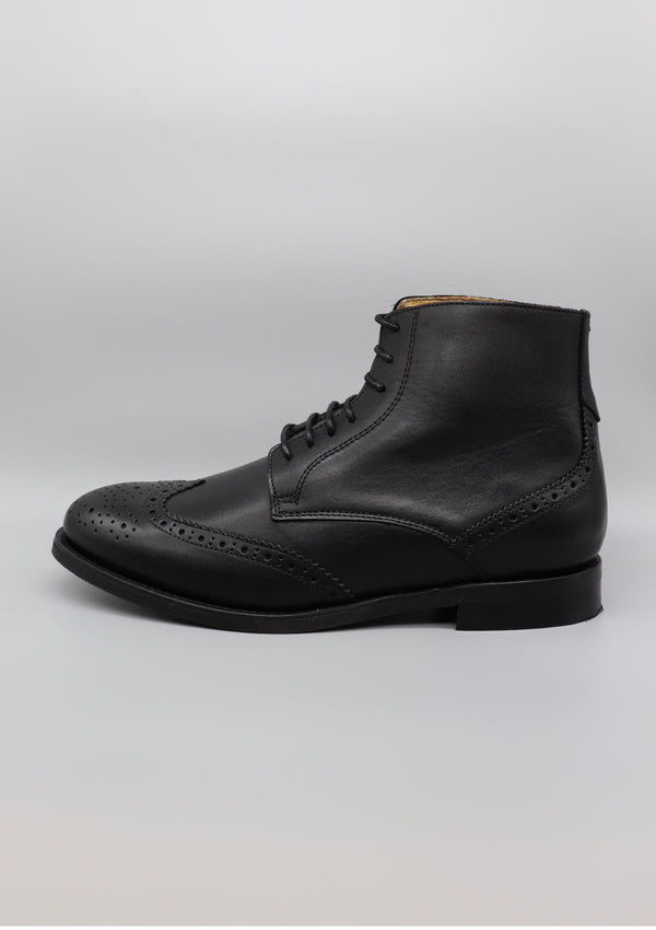 Black Brogue Boot