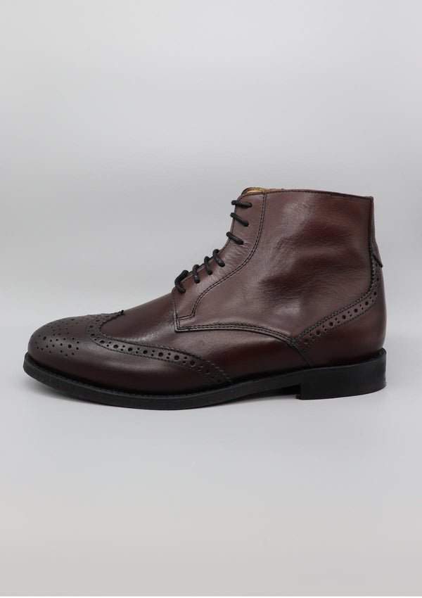Brown-Bordeaux Brogue Boot