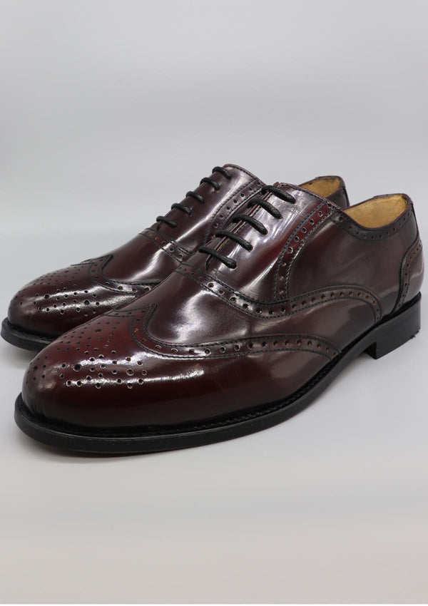 The Brogue - Burgundy Leather