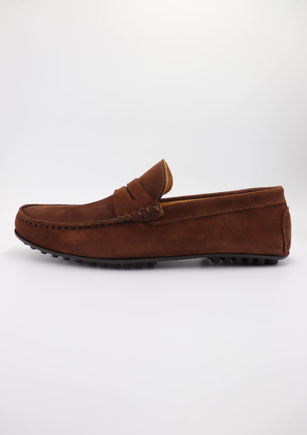 Brown Suede Driving Shoes