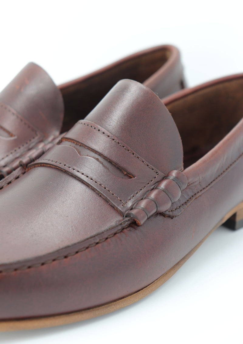 Brown Leather Summer Loafer