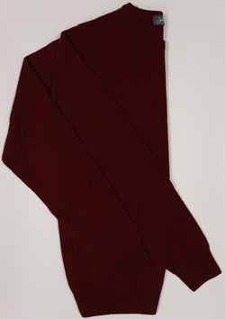 Burgundy Wool Crew Neck Jumper