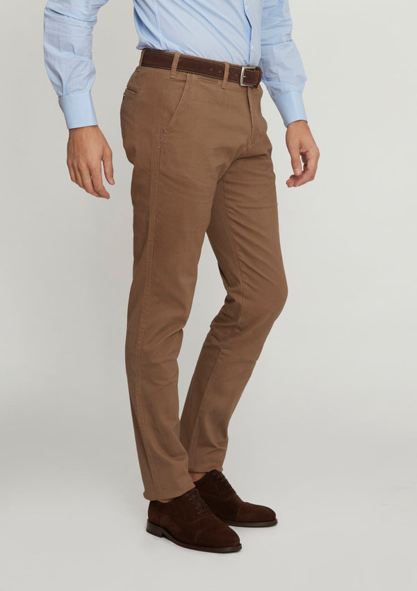 Camel Slim Fit Cotton Chino