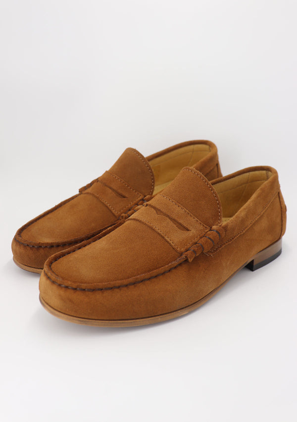 Camel Suede Summer Loafer