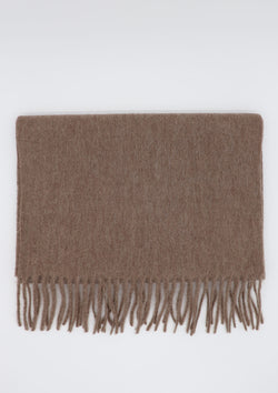 Camel Wool & Cashmere Scarf