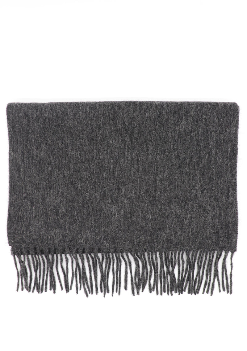 Charcoal Wool & Cashmere Scarf