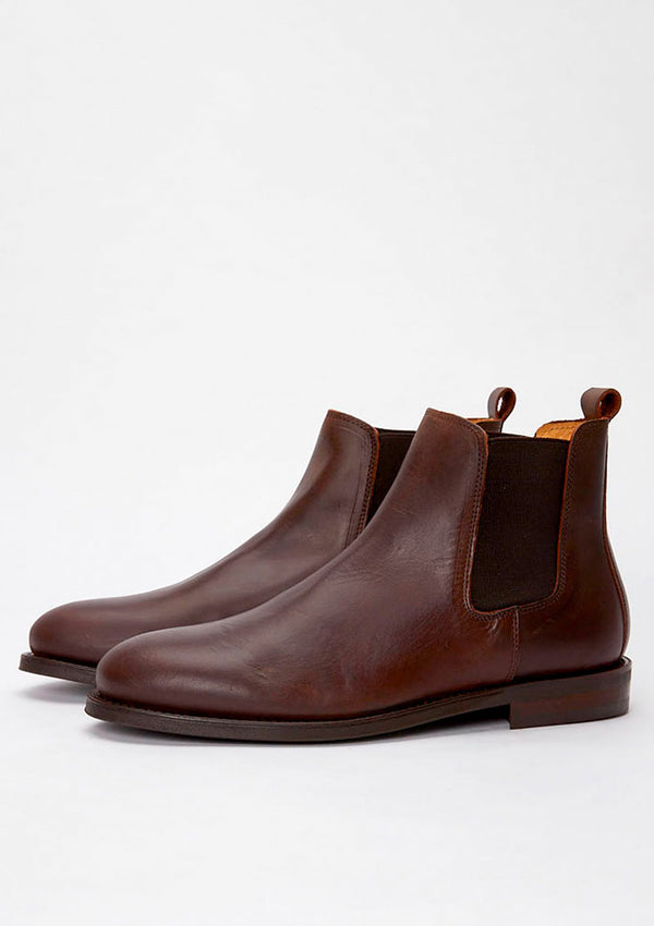 The Chelsea Boot - Brown Leather