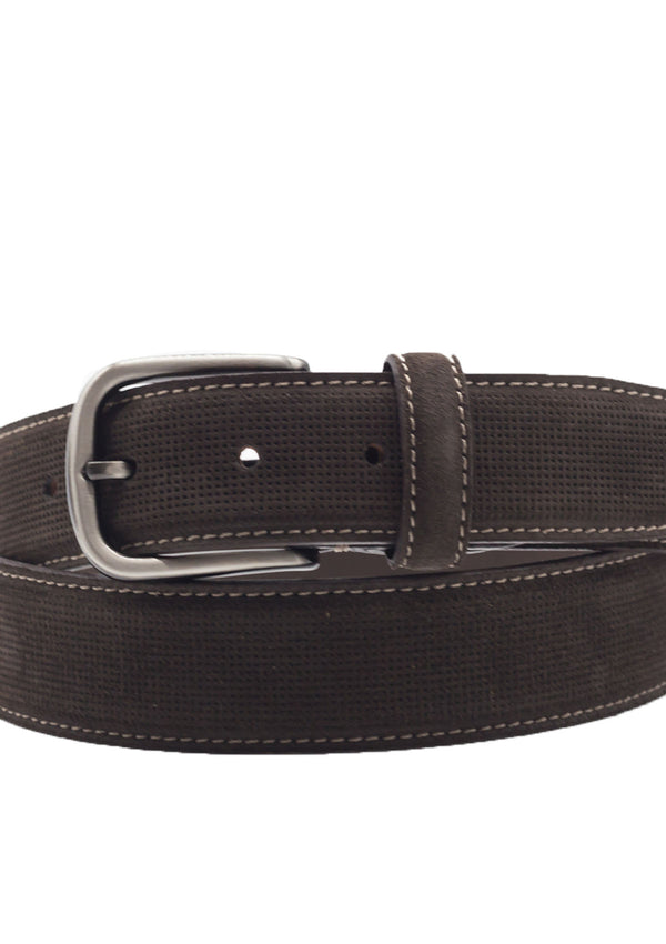 Dark Brown Suede Casual Belt